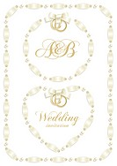Wedding backgrounds with ribbon making a frame for your text