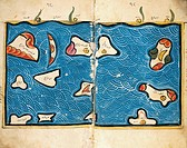 The Indian Ocean, by Muhammad Al Idrisi (1099-1165), taken from the Atlas of the World, dated 560 AH, 12th Century. Plate.