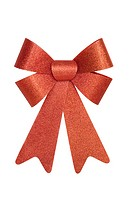 Shiny Red Christmas Bow, isolated w/clipping path