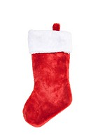 Red Christmas Stocking, isolated w/clipping path