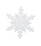 White snowflake, isolated w/clipping path