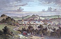 View of Elberfeld, 1845, Germany 19th Century.