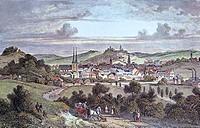 View of Elberfeld, 1845, Germany 19th Century.