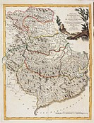 Cartography, Italy, 18th century. Piedmont region and County of Nice. Map by Antonio Zatta from Nuovo Atlante, Venice, 1782. Copper engraving.