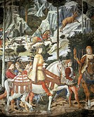 The cavalcade of the Magi, 1459, by Benozzo Gozzoli (1420-ca 1497), fresco. Detail. Palazzo Medici Riccardi, Florence.  Florence, Palazzo Medici-Ricca...