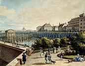 Vienna Volksgarten, Austria 19th Century.