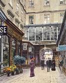The Domgasse in Vienna, Austria 20th Century. Watercolour.  Vienna, Historisches Museum Der Stadt Wien (History Museum)