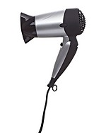 close up of a hair dryer on white background with clipping path