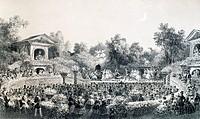 The Pre Catalan, Bois de Boulogne, Paris, France 19th century.