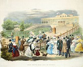 Austria, Vienna, Schonbrunn Palace, Wheelchairs Race at Tivoli Pavilion, 1831
