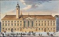 The Teutonic Order House and the Church of St. Elizabeth in Vienna, Austria 18th Century.