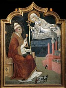 The Virgin recommending Siena to Pope Calixtus III, by Sano di Pietro (1406-1481).  Siena, Pinacoteca Nazionale (Picture Gallery), Buonsignori Palace