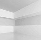 3d Illustration of White Abstract Interior Background