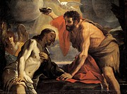 The Baptism of Christ, by Mattia Preti (1613-1699).  La Valletta, National Museum Of Fine Arts