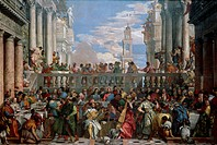 The Wedding at Cana, 1563, by Paolo Caliari known as Veronese (1528-1588).  Paris, Musée Du Louvre