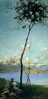 Landscape, by Camillo Rapetti (1859-1929).  Milano, Quadreria Dell'Ospedale Maggiore