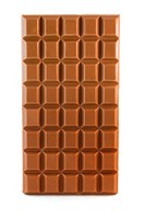 Milk chocolate bar isolated over white