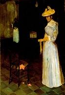 Lady in an interior, by Leonetto Cappiello (1875-1942).  Leghorn, Museo Civico Giovanni Fattori (Fattori Museum)