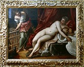Leda and the Swan, ca 1570, by Jacopo Robusti known as Tintoretto (1518-1594), oil on canvas, 162x218 cm. Uffizi Gallery, Florence.  Florence, Galleri...