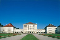 Germany - Bavaria - Munich. The Baroque Nymphenburg Palace, built in the 17th century
