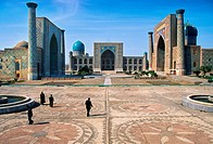 The Registan Samarkand Uzbekistan, Central Asia, Silk Road, Unesco World Heritage Site,