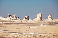 Chalk formation in White desert, Egypt