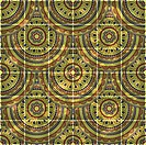 eps10, vector seamless grungy background with eastern circle pattern