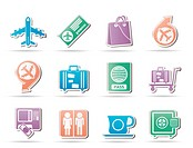 airport, travel and transportation icons 1 _ vector icon set