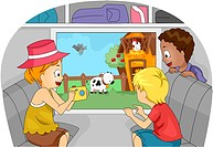 Illustration of Kids on a Trip to a Farm _ eps8