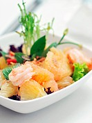 Thailand style pomelo and shrimp salad