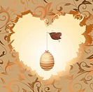 golden egg in the heart of a bird