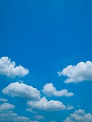 Bright blue sky and white cloud Horizontal