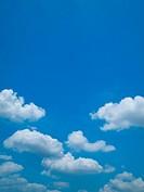 Bright blue sky and white cloud Horizontal