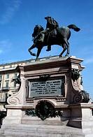 Monument to Alfonso la Marmora in Torino, Italy.