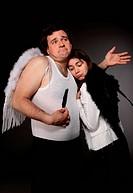 Mr. Angel and Mrs. Angel. Creepy character portrait