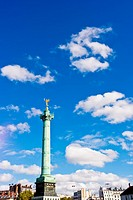 Place de la Bastille in the 3th arrondissement of Paris