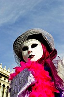 carnival masks, colorful and beautiful art. In Venice
