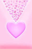 Love pink background with pink hearts