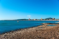 Panoramic view of Piriapolis Uruguay, South America.