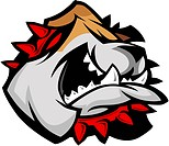 Bulldog Mascot Head Graphic Vector Image