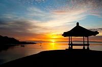 Sunset on Sanur beach, Bali