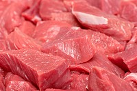 Slices of fresh raw meat