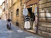 men´s jackets shop in via del pellegrino, rome italy