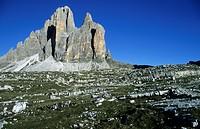 Tre Cime di Lavaredo, Drei Zinnen, Dolomites, South Tyrol, Italy, Europe