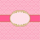 Template frame design for greeting card . Background _ seamless pattern.