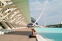 Artificial lake, City of arts and Sciencies, of Valencia, Spain