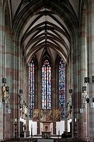 Gothic hall church Marienkapelle chapel, Wuerzburg, Lower Franconia, Bavaria, Germany, Europe