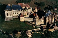 Aerial view of Biron Castle - Aquitaine, France