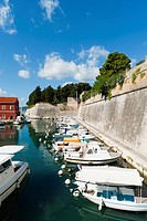 The Fosa, one of the small ports of Zadar, Zadar county, Dalmatia region, Croatia, Europe