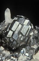 Minerals - Sulphides - Bournonite with quartz.